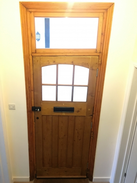 The completed door