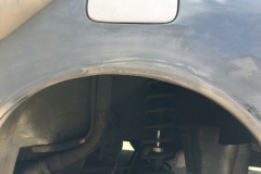 Filling wheel arch